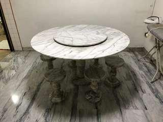 🚚 Marble table with chairs for sale