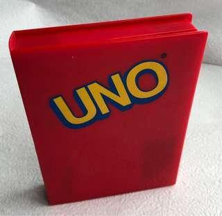 Uno Card Game in Red Plastic Card Box (travel) (UNO 遊戲卡)
