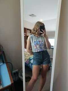 Target Top and Uniqlo Shorts