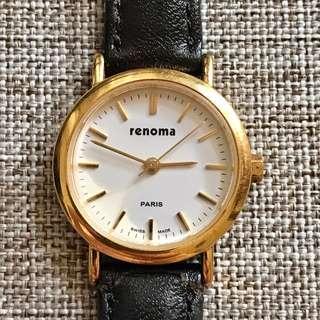RENOMA Paris Swiss Made Original Gold 4 Jewels Stainless Steel WR 30M Jam Tangan