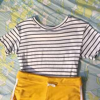 Cropped top (stripes)
