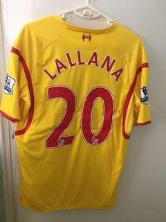 (減價)Liverpool  Lallana波衫 (大碼,有英超章,已剪牌)
