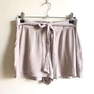Forever 21 taupe tie waist shorts