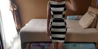 Milly charlotte stripes span dress