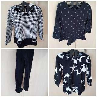 Carters black and white set