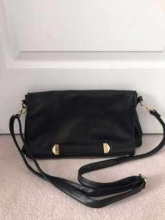 H&M Black Fold Handbag