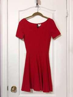 H&M Red Dress (Size 2)