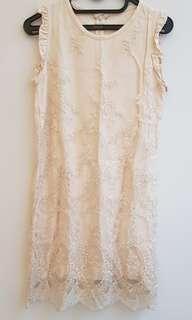 Korean lace dress midi