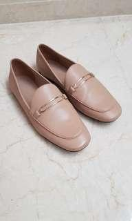 Charles & keith nude shoes