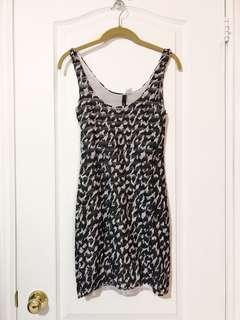 H&M Patterned Body Con Dress