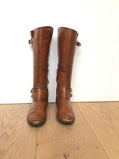 Brown tall boots, size 7, lightly worn