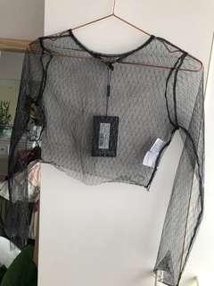 Sparkle mesh top