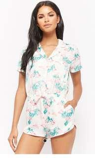 F21 Flamingo Print Pajama Romper