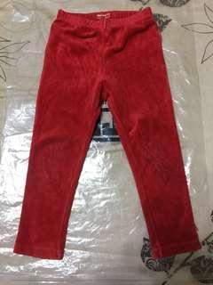🚚 1/2長褲100cm2件(紅、粉色)