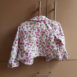 The Children's Place Floral Denim Jacket