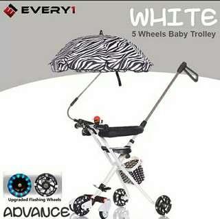 Magic Stroller dengan zebra payung