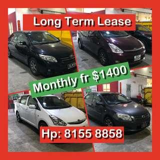 Cars for Long Term Lease - Not Grab / Go Jek Rentals