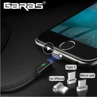 GARAS Magnetic Cable For lightning/Micro USB/Type C