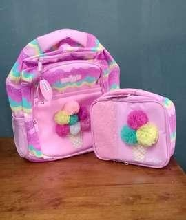 Smiggle Backpack + Lunch Box