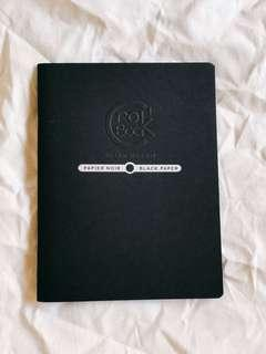 BRAND NEW Black Page Notebook