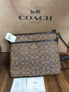 Coach file bag crossbody
