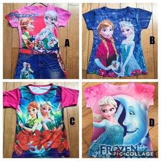 Frozen Shirts 3yrs