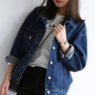 korean ulzzang oversized denim jacket