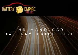 2nd hand / used car battery promotion