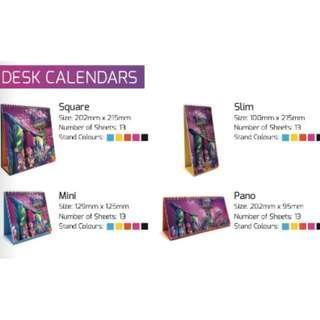 The Garden City Desk Calendar 2019 Artwork Design