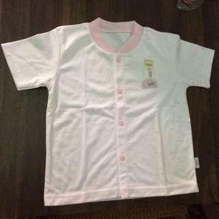 Kaos Kancing Depan Lengan Pendek Anak