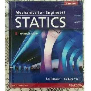 Mechanics for Engineer Statics 第13版 Pearson R.C Hibbeler合集共2本