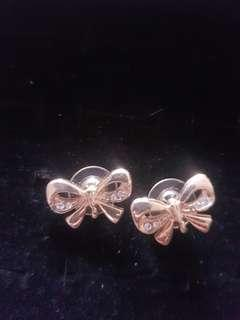 Cute bow studs earrings