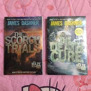 The Scorch Trials & The Death Cure books by James Dashner