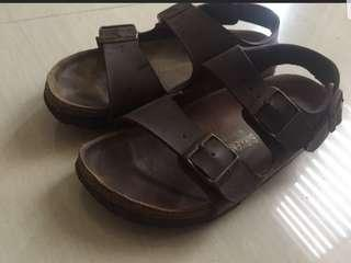 Auth birkenstock sandals (unisex) size 6. 23cm