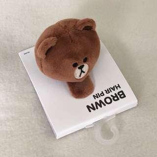 Official LINEFRIENDS Brown Hair Pin
