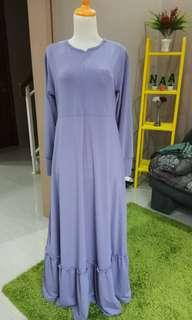 dress jersey ungu muda