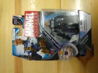 MARVEL UNIVERSE 3.75 INCHES CAPTAIN AMERICA (not Marvel Legend, DC, Hottoys)