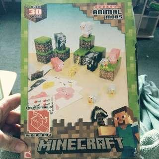 MINECRAFT Papercraft Animal Mobs 30 piece Easy to build Pack x 2