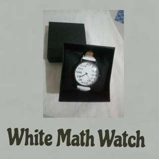 White Math Watch