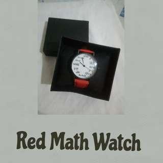 Red Math Watch