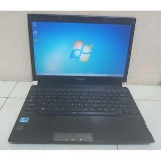 Laptop Kantoran Toshiba Dynabook R732 Core i3 Ram 4GB Hdd 320GB Bekas