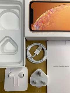原廠 iPhone ear pod, charger iPhone XR 吉盒