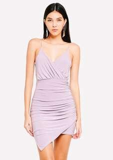 MISSGUIDED Strappy Slinky Wrap Bodycon Mini Dress