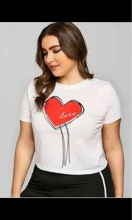 Plus Size Heart Graphic Shirt
