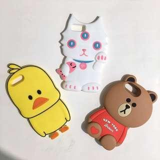 8plus 7plus 6plus 6splus duck bear white cat iphone case
