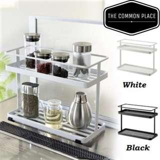 🚚 INSTOCK Minimalist Multipurpose Kitchen Condiments Organizer Rack (White/Black)