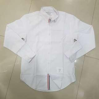 THOM BROWNE HIDDEN WHITE OXFORD SHIRT SIZE 2 MEN