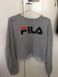 Cropped Fila jumper pull over