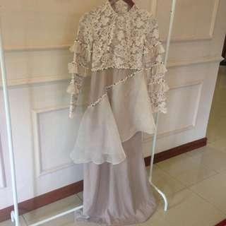 Dress tille organdi payet