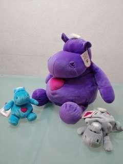 Beanie hippo stuffed toys